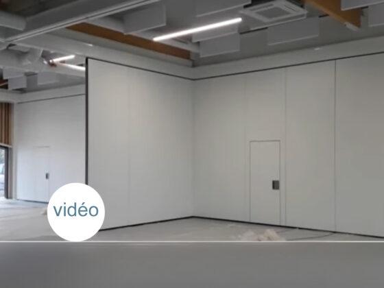 mur mobile - salle multiactivité Murviel Les beziers