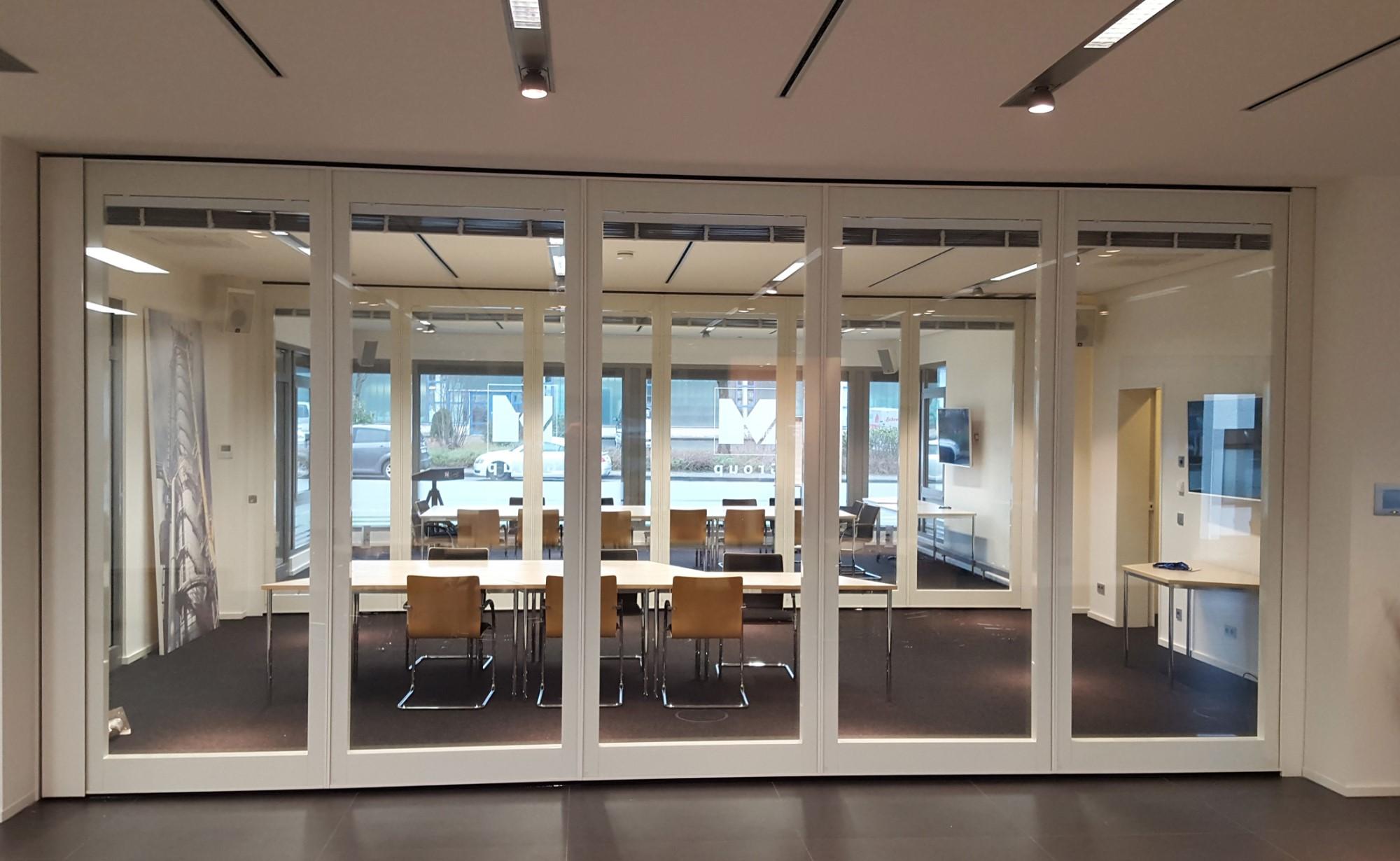 mur mobile vitré acoustique - cloison vitrée mobile Movista