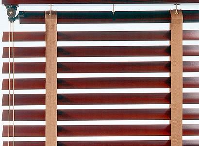 store vénitien en bois acajou - stores intérieurs Eole