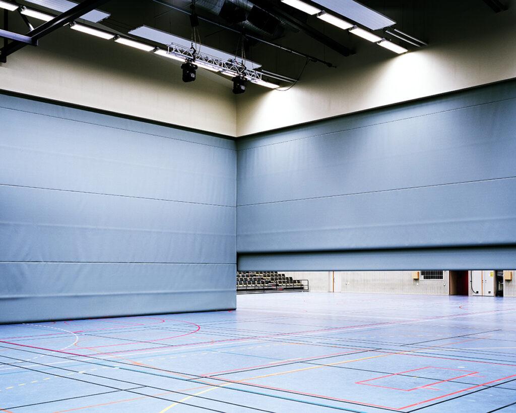 rideau acoustique verticale - rideau acoustique grande dimension