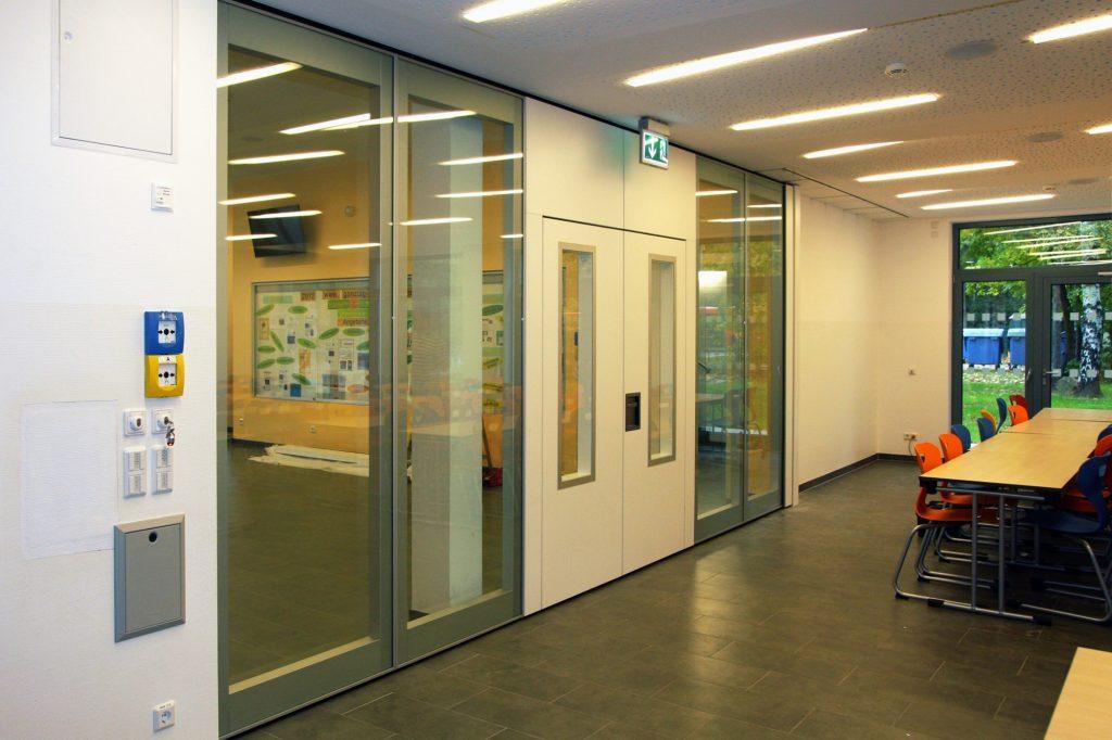 mur mobile vitré acoustique Hufcor - mur vitré mobile et acoustique