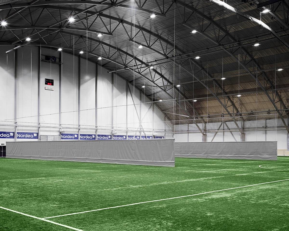 mur vertical acoustique salle de sport - rideau vertical grande dimension