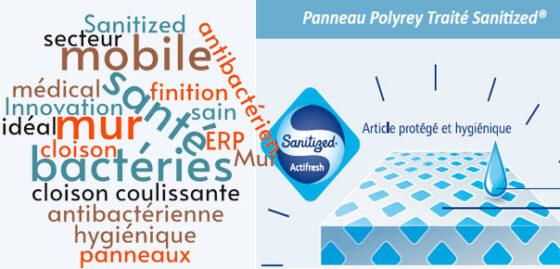 Mur mobile antibacterien Sanitized - cloison mobile