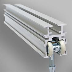 rail 38 en aluminium anodisé - rail monodirectionnel mur mobile