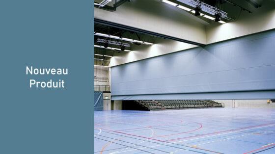 Rideau diviseur pour salle de sport - rideau de séparation acoustique relevable