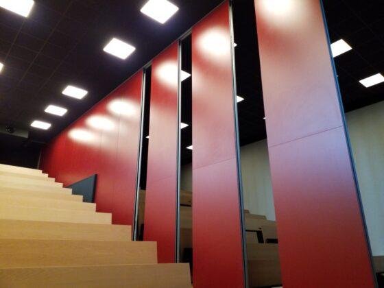 Espace modulable - cloison mobile salle amphi