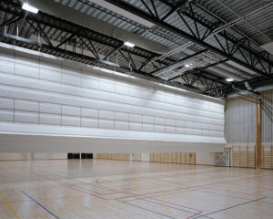 Rideau salle de sport - rideau acoustique pour séparation de salle