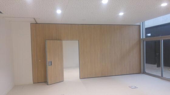 mur mobile acoustique - réalisation Eole