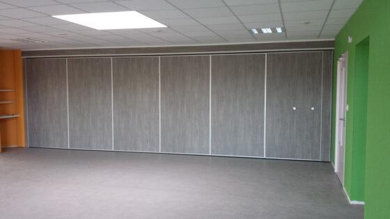 cloison mobile finition chêne argenté - mur mobile Eole